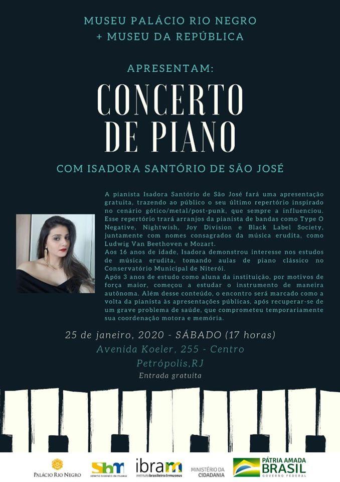 Concerto: Pianista Isadora Santório de São José