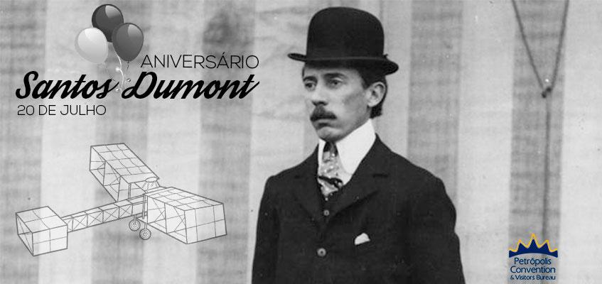 08c9d54eb43 Nessa quinta-feira dia 20 07 é aniversário de 144 anos de Alberto Santos  Dumont que nasceu em 1873 no sítio Cabangu em Minas Gerais.